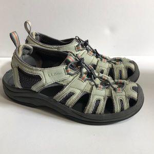L.L. Bean Bungee Cord Sport Sandals - Sage Green